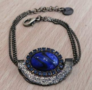Braclelet-bleu-Louise d'or-dimitriadis-digne les Bains