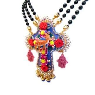 Collier croix bambi-Louise d'or-Digne les Bains-Mouchkine-Louise d'or