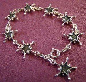 étoile Saint Vincent-Louise d'or-bracelet-poignet