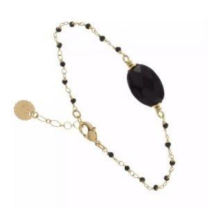 bijoutiers créateurs-bracelet arequipa-Laëti Trëma-bracelet-pierre noire-Louise d'or