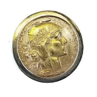 Bague pièce or-Bague-Or 18 k-Or 20 k-Louise d'or-Digne les Bains