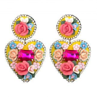 Boucles d'oreilles coeur-Boucles d'oreilles fataisie-Mouchkine-Louise d'or-Digne les Bains