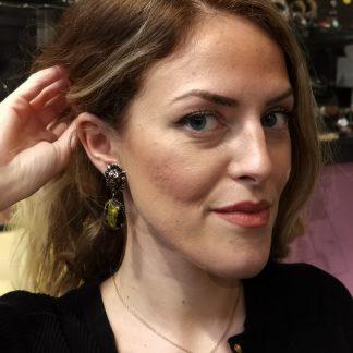 Boucles d'oreilles-Boucles d'oreilles fantaisie-Boucles lion-Bijou Digne les bains-Louise d'or