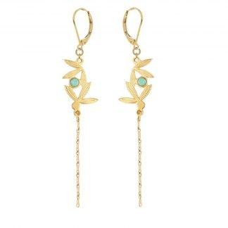 Boucles d'oreilles-Collection Alang-Boucles pendantes-Laëti Trëma-Louise d'or-Digne les Bains