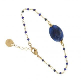 Bracelet-Sodalite-Laëti trêma-Digne les Bains-Louise d'or
