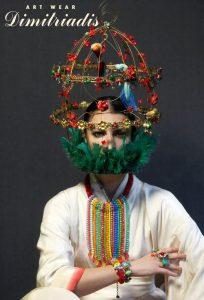 bijoutiers créateurs-Dimitriadis-Louise d'or-Coiffe-chapeau