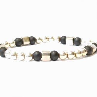 Bracelet homme argent-Bracelet elastique argent-Bijou homme-Digne les Bains-louise d'or