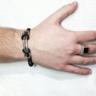 Bracelet acier-Bracelet homme-Louise d'or