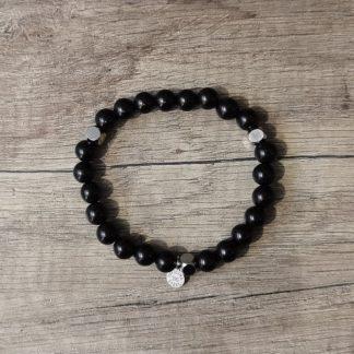 Bracelet bois noir-Bracelet homme-Braceet officina-Louise d'or-Digne les bains