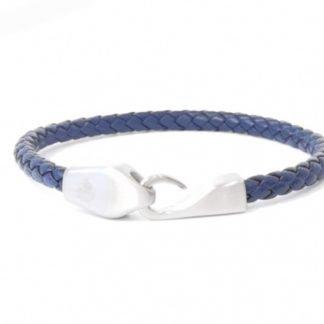 Bracelet cuir bleu-Bracelet homme-Bracelet homme Digne es Bains-Louise d'or