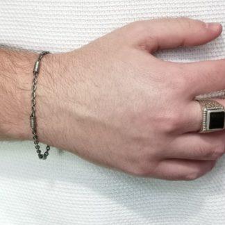 Bracelet fin homme-Bracelet Acier-Digne les Bais-Louise d'or