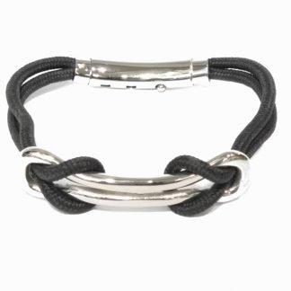 Bracelet-Bracelet homme acier-Bracelet corde-Louise d'or-Bijou homme-Digne es Bains