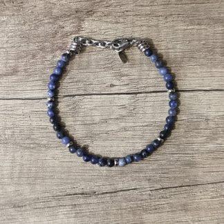 Bracelet sodalite-Louise d'or-Digne les Bains