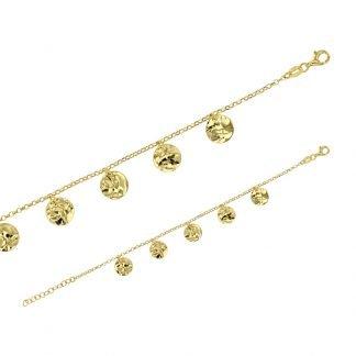 Bracelet pampilles martelées-Bracelet arent fantaisie Digne les Bains-louise d'or