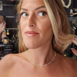 Collier argent perles blanches-Collier argent Digne les Bains-Louise d'or